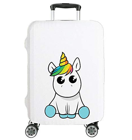 Cute Unicorn Suitcase Cover Protector For Travel Luggage