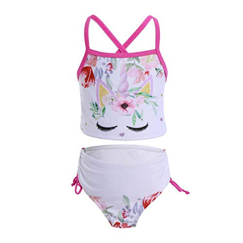 Girls Unicorn 2- Piece Tankini Bikini Set Swimsuit IMEKIS
