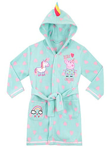 Peppa Pig Girls Unicorn Dressing Gown | Blue | Girls