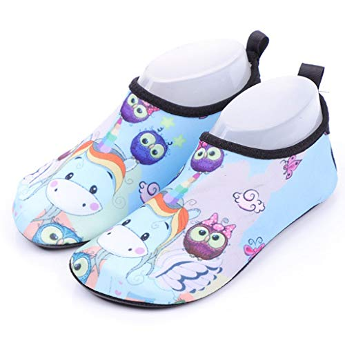 Unicorn blue multicolour water shoe aqua sock