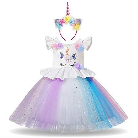 Unicorn dress blue fancy dress cosplay