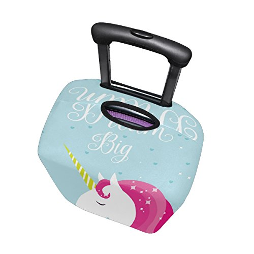 Unicorn dream big suitcase cover/protector. Make sure your suitcase is instantly recognisable from others.