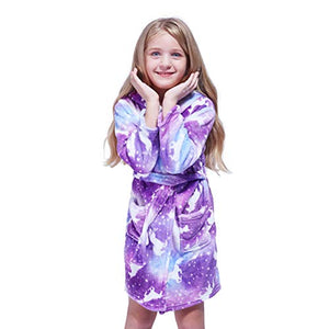 Kids Unicorn Dressing Gown | Purple