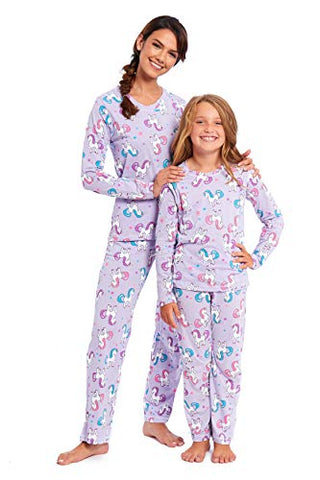 Matching Mum and Daughter Unicorn Pyjamas's | Loungewear | Lilac