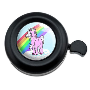 Unicorn & Rainbow Bike Bell For Handlebar | Black
