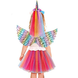 Cute Kids Unicorn Costume Fancy Dress | Tutu, Skirt, Headbands, Wings