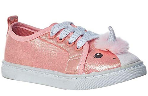 Rose gold pink peach unicorn trainer girls
