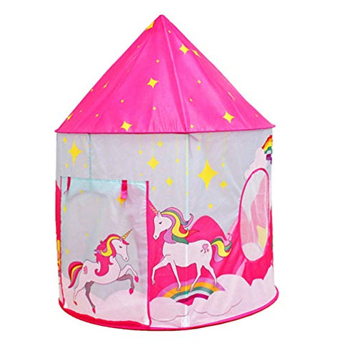 Kids Unicorn Play Tent House For Girls | Pink
