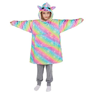 Oversized Unicorn Hoodie Blanket Sweatshirt for Kids | Unicorn Gift Idea