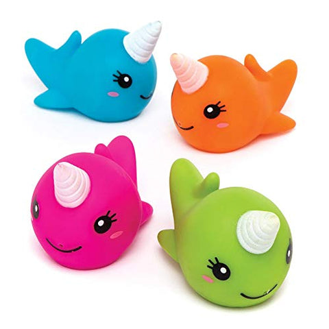 Unicorn Whale Water Squirters (Pack of 4) | For Kids