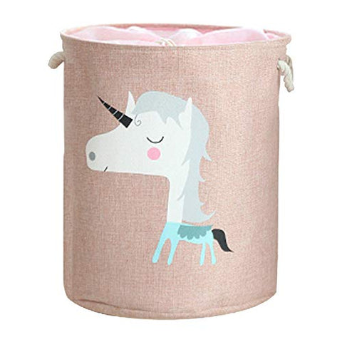 Unicorn Pink Toy Storage Basket Washing Bag