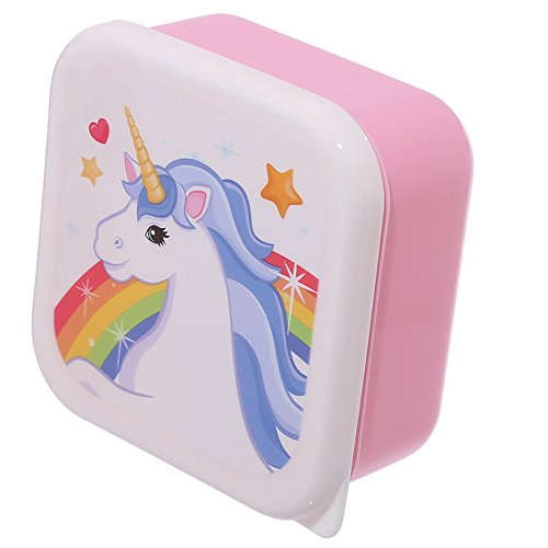 Set Of 3 Lunch Boxes - Unicorn Design