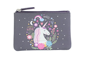 Unicorn Leather Applique and Printed Leather Coin Purse