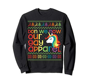 Multicoloured Rainbow Unicorn Christmas Jumper