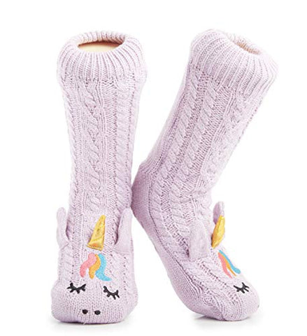 Thick Knitted Unicorn Slipper Socks