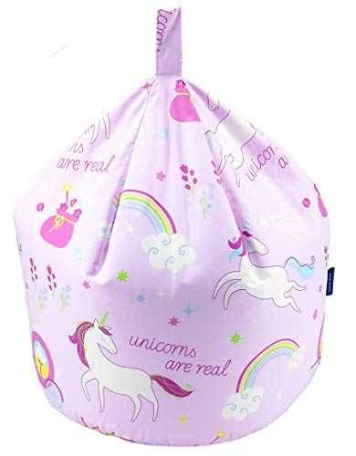 Better Dreams Childrens Bean Bags 9 Cool Designs 52cm x 52cm x 60cm High (Unicorn)