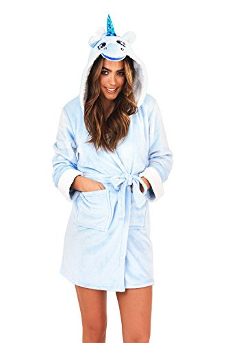 6c2a27ade Loungeable Boutique Womens Unicorn Hooded Dressing Gown Blue ...