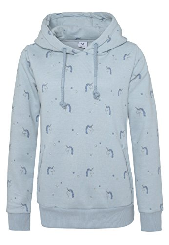 unicorn hoody womens pastel blue