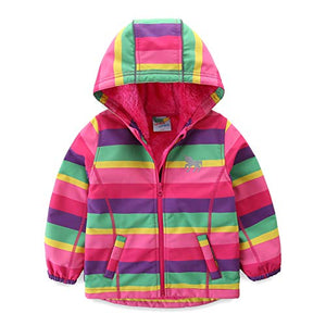 Rainbow Unicorn Jacket | Baby Girl | Windproof Jacket Waterproof