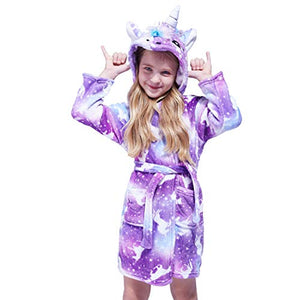 Purple Unicorn Soft Kids Dressing Gown