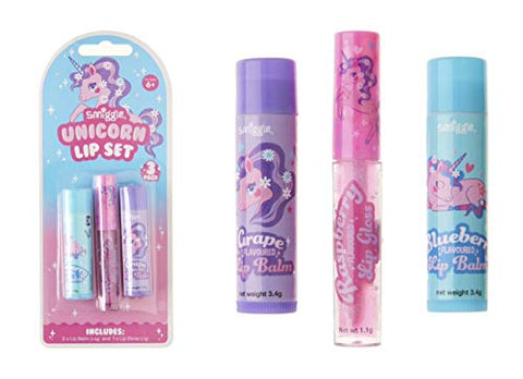 Smiggle Unicorn Fruity Lip Set | 3 Pack | Gift Idea