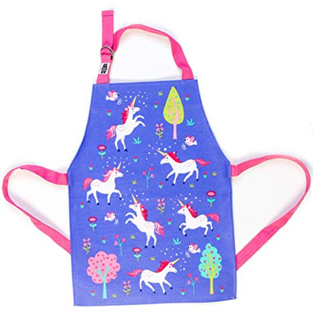 Cute Unicorn Apron For Kids | Blue & Pink