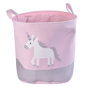 Pink, Grey, White Unicorn Storage Bag