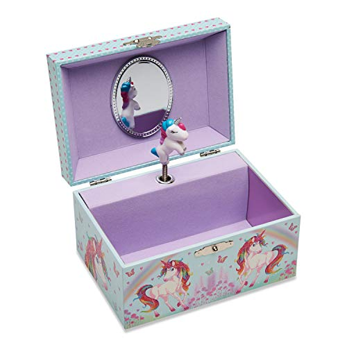 Purple unicorn design jewellery box musical