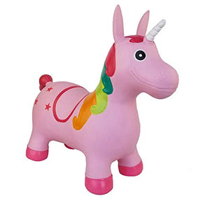 Pink Unicorn Space Hopper | Kids Animal Bouncer With Pump