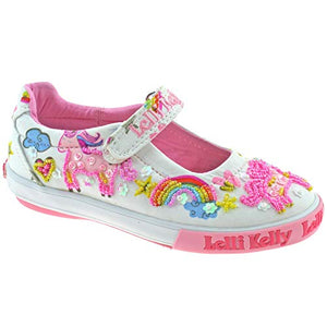 Lelli Kelly White unicorn girls shoes