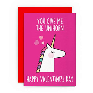 Unicorn Valentine's Day Card | Funny | Husband Wife Boyfriend Girlfriend | Greeting Card