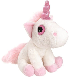 Suki Gifts Mystical Little Peepers Bella Unicorn Soft Boa Plush Toy (White and Pink, Small)