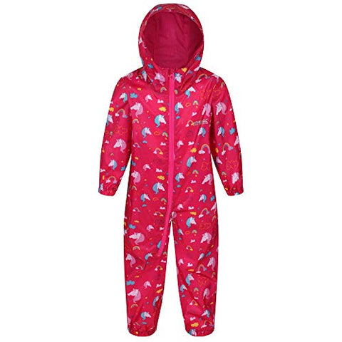 Regatta Unisex Kid's Puddle Suit | All-in- One Suit | Unicorn Design