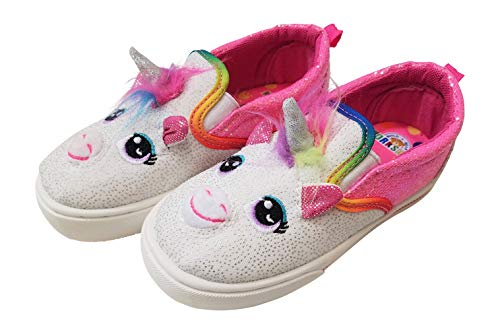 Unicorn Pink Slip On Trainers