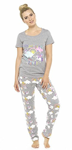 Women's Grey Unicorn Pjamas