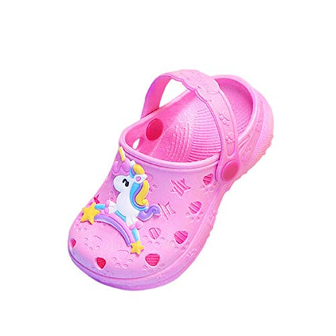 Crocs style girls unicorn pink shoe