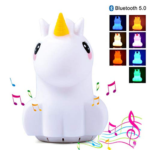 Kids Unicorn Night Light Bluetooth