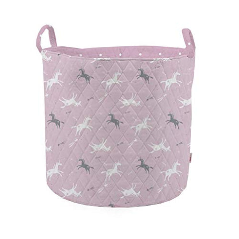 Unicorn Quilted Toy Bag Laundry Basket