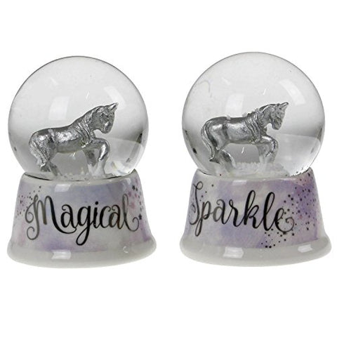 Unicorn Snow Globe Dome | Home Decor Ornament | Glittered Snowglobe Set Gift