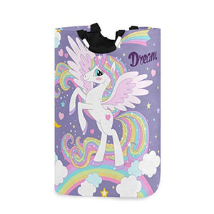 Multicoloured Unicorn Storage Bag Girls Bedroom