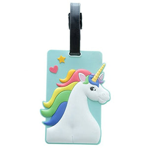 Enchanted Unicorn Rainbow PVC Luggage Suitcase Tag