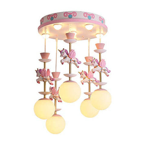 Pink Unicorn Carasole Chandelier Light
