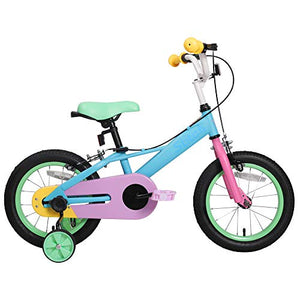 Kids Bike For Girls & Boys | Unicorn Pastel Colours | Ages 3 - 9 Years