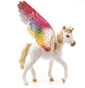 Schleich Winged Rainbow Unicorn Foal Figure | 70577