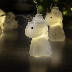 White LED Unicorn String Lights Fairy Lights