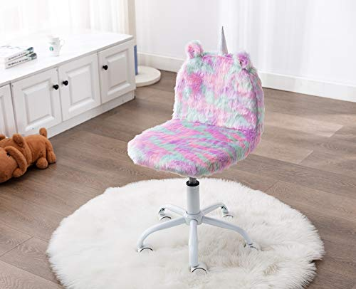 Unicorn Swivel Chair For Kids | Faux Fur