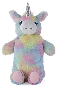 Rainbow Unicorn | Hot Water Bottle With Soft Plush Removable Cover