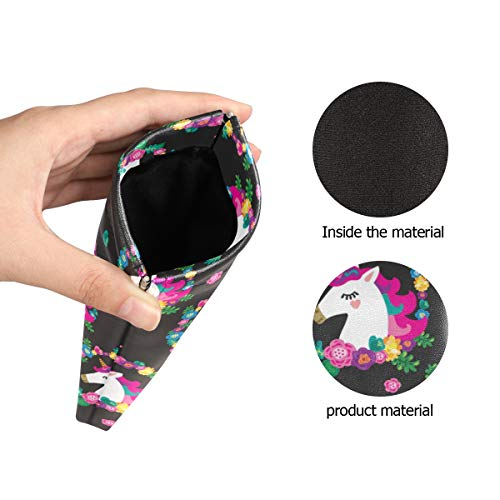 Unicorn Sunglasses Pouch Black, Multicoloured