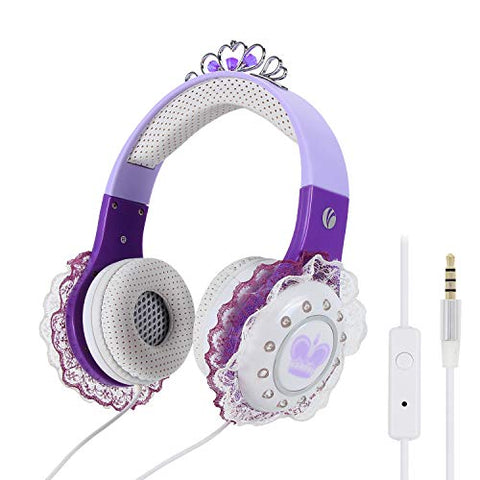 VCOM Purple Unicorn Kids Headphones | iPhone, iPad, Table Compatible