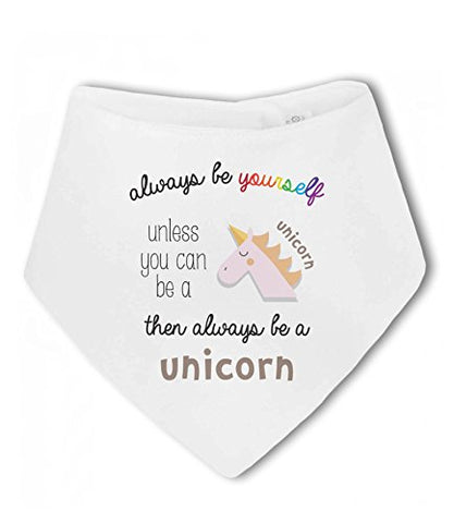 Peronalised Unicorn Dribble Bib Quote